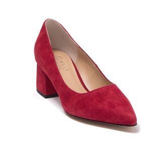 Franco Sarto Callan Red Pointed Toe Block Heel